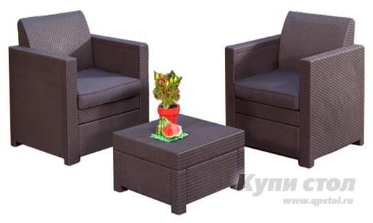 Комплект плетеной мебели Набор мебели Limousine Balcony Set (из атмосферостойкого пластика, имитация ротанга) КупиСтол.Ru 17400.000
