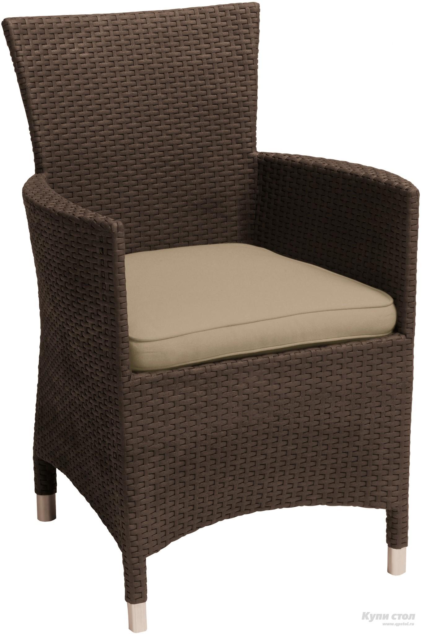 Плетеное кресло Стул Montana (из атмосферостойкого пластика, имитация ротанга) КупиСтол.Ru 4300.000