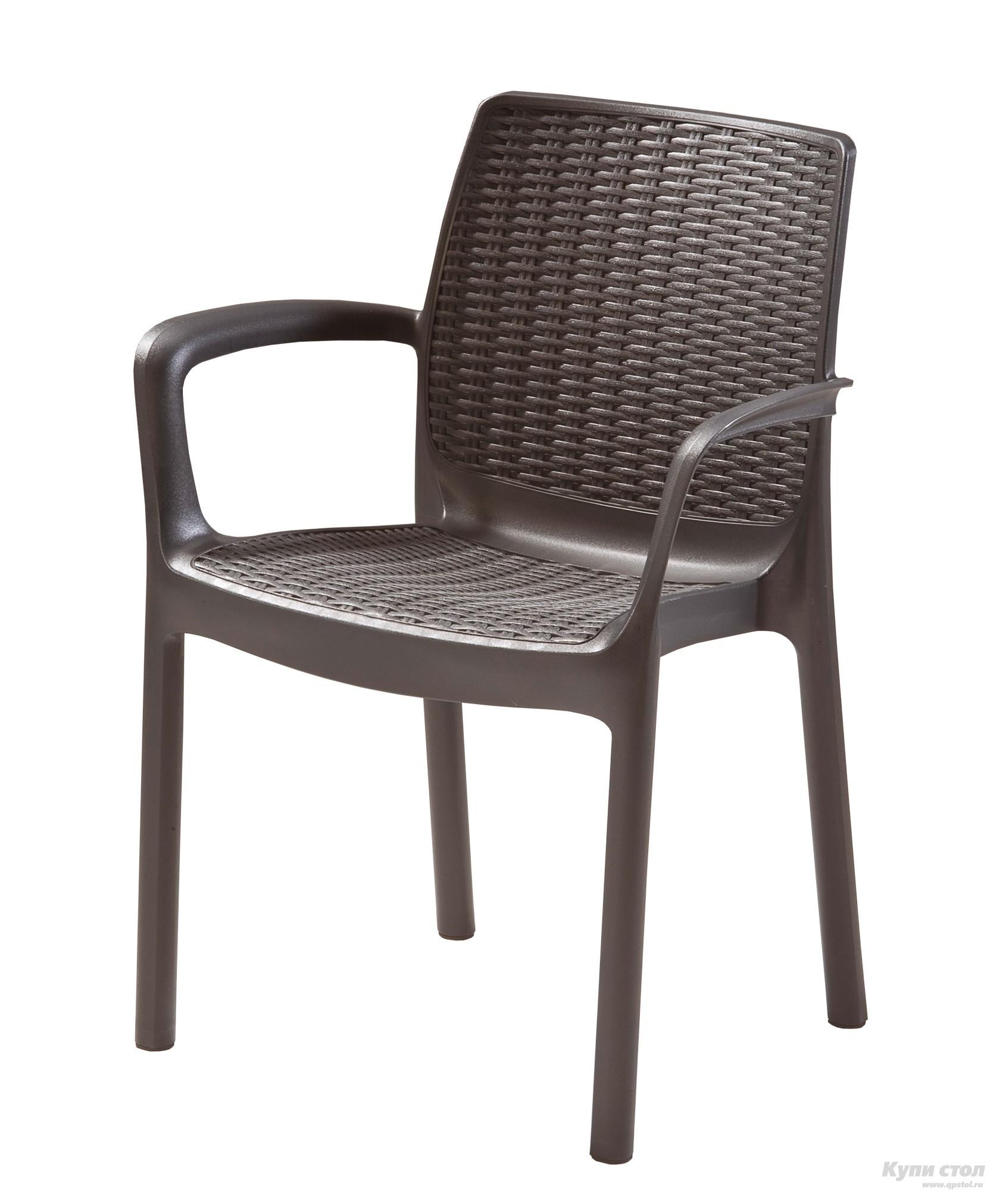 Плетеное кресло Стул BALI MONO (BALI 3) (из атмосферостойкого пластика, имитация ротанга) КупиСтол.Ru 4900.000