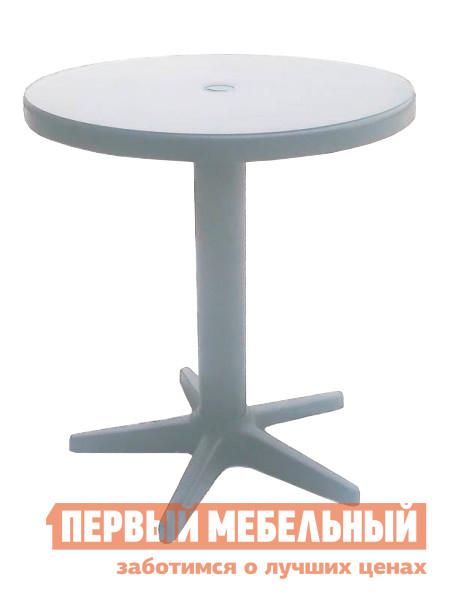 Пластиковый стол Отдых с комфортом Стол круглый Бистро Белый, 70 см