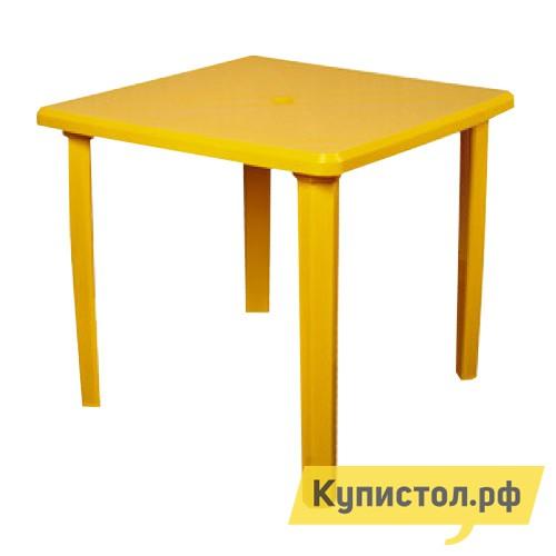 Стандарт Пластик Стол квадратный (800х800х710) Желтый