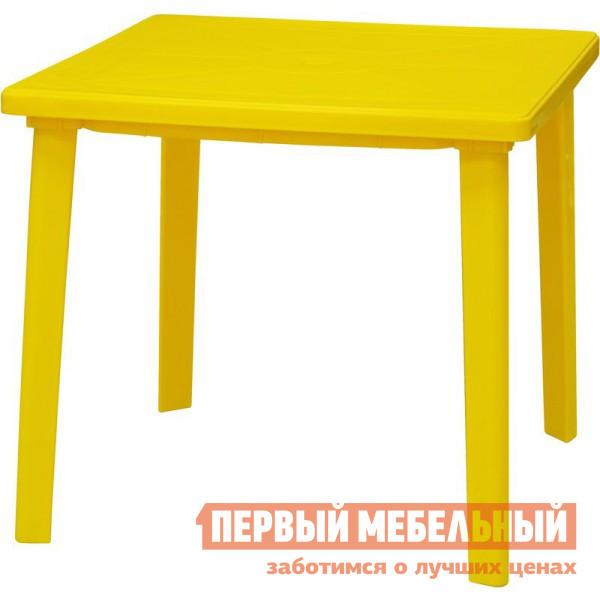 Пластиковый стол Отдых с комфортом Стол квадратный 80*80 СП Желтый