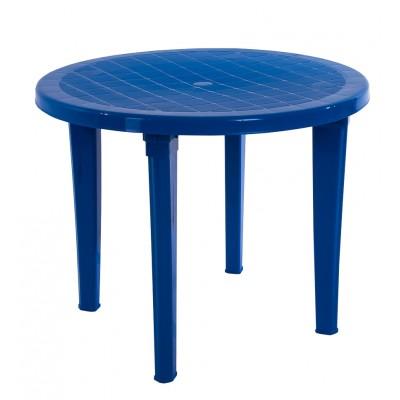 Пластиковый стол ЭЛП Стол круглый Синий