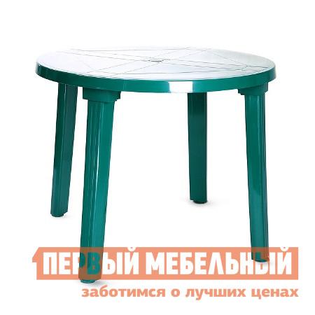 Пластиковый стол Отдых с комфортом Стол круглый -1-D90*71 Газ Болотный