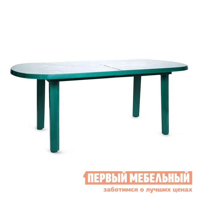 Пластиковый стол Отдых с комфортом Стол овальный Комби (Газсервис) Болотный, Без вставки
