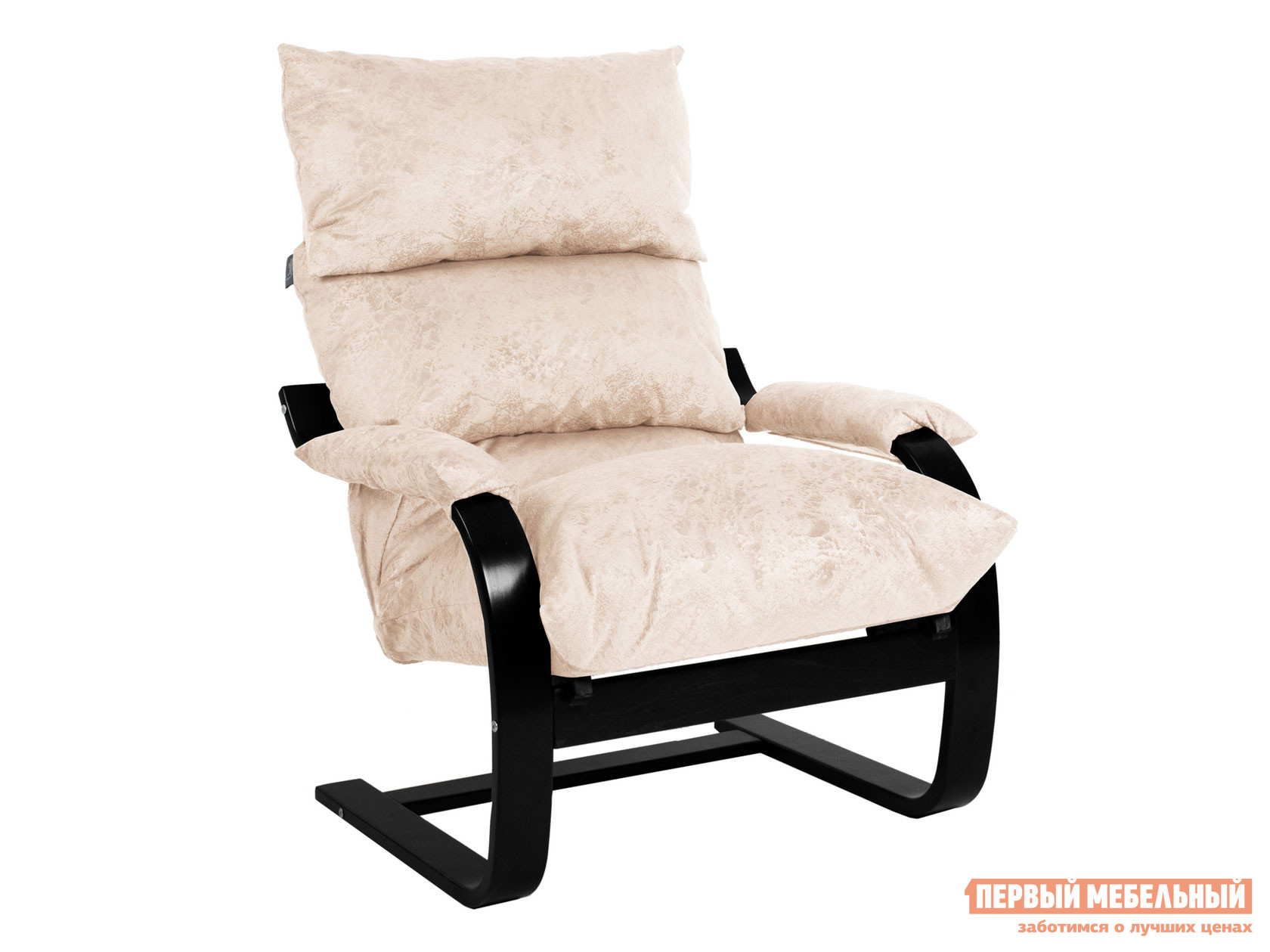 Кресло  Кресло Онега 1 Венге Структура, Велюр Карамель