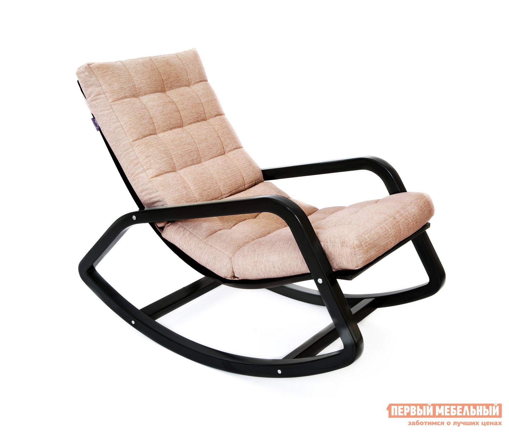 Кресло-качалка Грин Три Кресло Онтарио Бежевый, Рогожка Миндаль