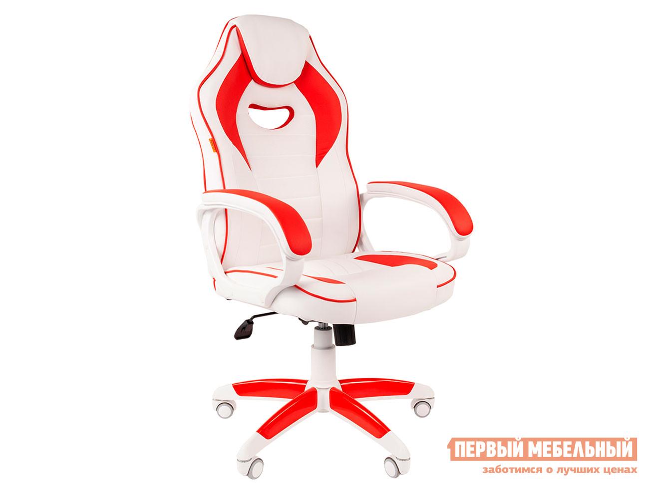 Игровое кресло  Игровое кресло Chairman Game 16 Экокожа комбинированная белый / красный