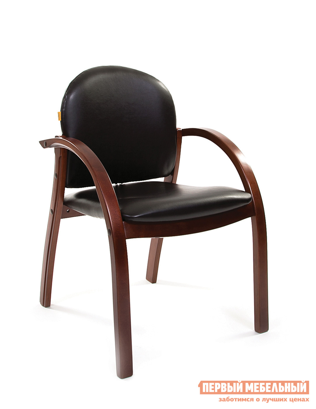 Офисный стул Chairman СH 659 Эко-кожа черная глянец
