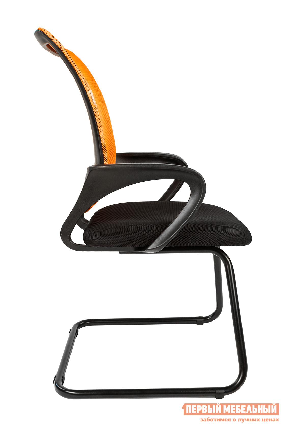 Офисный стул  CHAIRMAN 969 V Сетка TW-66 оранж. / Ткань TW-11 черн.