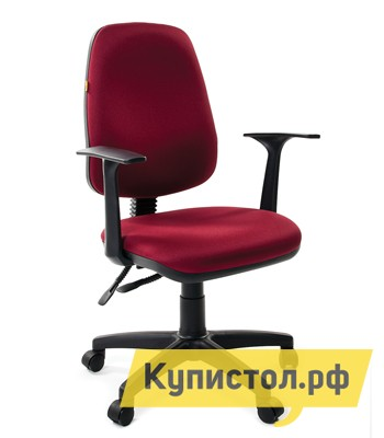 Офисное кресло Chairman CH 661 30-11 бордоОфисные кресла<br>Габаритные размеры ВхШхГ 940 / 1060x570x450 мм. Благодаря своим характеристикам операторское кресло является оптимальным выбором по соотношению цена-качество. Надежность и основательность конструкции в данной модели сочетается с компактностью форм и практичностью материалов.  Сидение выполнено в лучших традициях современных кресел.  Благодаря его округлым, ортопедическим формам снижается нагрузка на ноги.  Эргономичная спинка кресла с изменяемым углом наклона повторяет форму спины и, в сочетании с прочными Т-образными подлокотниками, позволяет сохранить правильное положение при сидении.  Также спинка фиксируется в любом желаемом положении, что очень важно при длительной статичной работе.  Обивка кресла  полиэстер.  Это легкое быстросохнущее и износостойкое синтетическое волокно, которое прекрасно сохраняет форму, устойчиво к световому и тепловому воздействию. Изделие поставляется в разобранном виде.  Хорошо упаковано в гофротару вместе с необходимой фурнитурой для сборки и подробной инструкцией.<br><br>Цвет: 30-11 бордо<br>Цвет: Красный<br>Высота мм: 940 / 1060<br>Ширина мм: 570<br>Глубина мм: 450<br>Кол-во упаковок: 1<br>Форма поставки: В разобранном виде<br>Срок гарантии: 12 месяцев<br>Тип: До 80 кг, До 100 кг<br>Материал: из ткани<br>Особенности: С подлокотниками, С пластиковой крестовиной