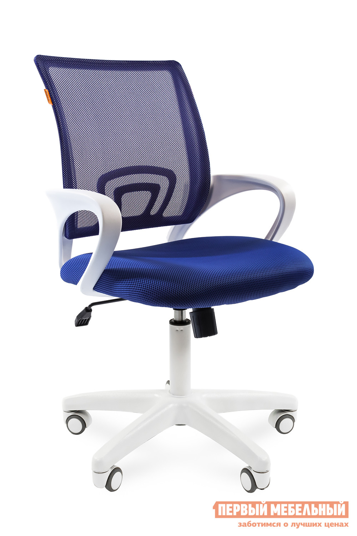Офисное кресло Chairman CH 696 white TW-05 / TW 10 синий
