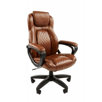 Кресло руководителя Chairman Chairman 432 Экопремиум коричневая