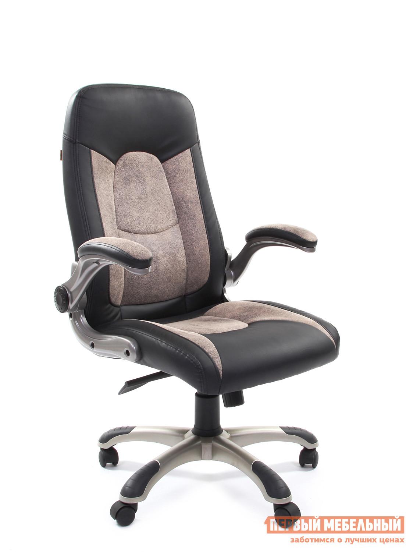 Кресло руководителя Chairman СН 439 Черная искусственая кожа / Бежевая микрофибра