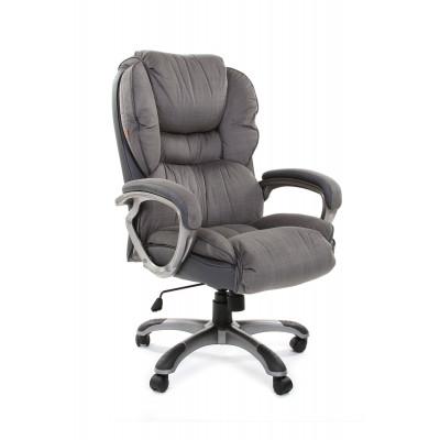 Кресло руководителя Chairman CH 434 N Микрофибра серая / Кожа серая