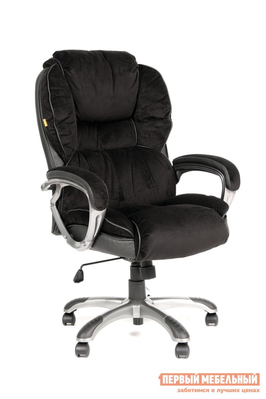 Кресло руководителя  CH 434 N Микрофибра черная / Кожа черная