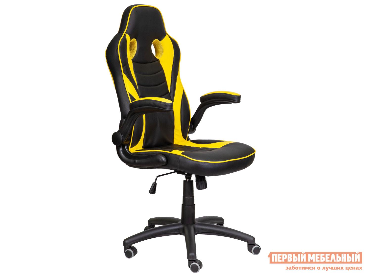 Игровое кресло  Игровое кресло JORDAN Черный / Желтый, экокожа — Игровое кресло JORDAN Черный / Желтый, экокожа