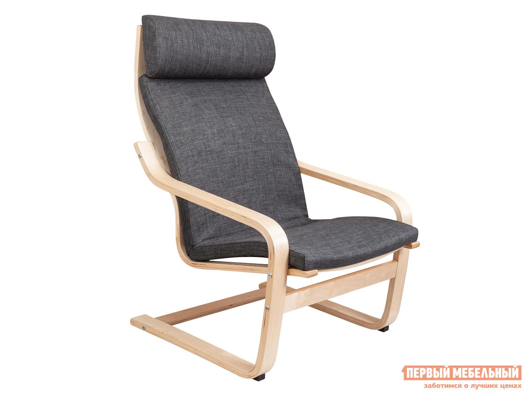 Кресло-качалка  Кресло для отдыха RELAX Темно-серый, ткань / Береза Sedia 125032