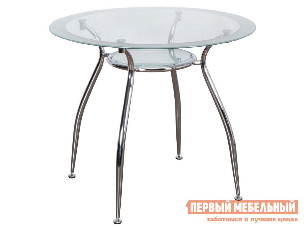 Кухонный стол  Стол FINEZIA, 900*750*8/5 Стекло / Хром, металл
