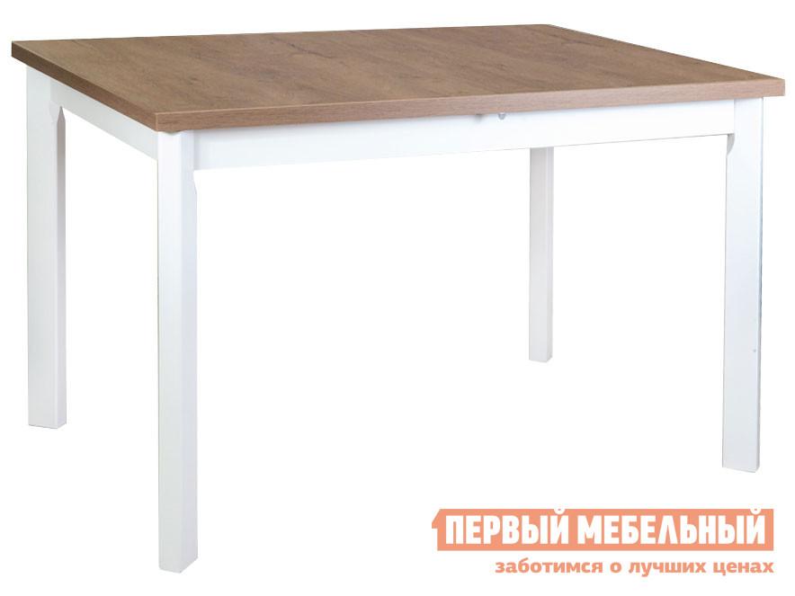 Кухонный стол  Стол MAX 5 P, 120(150)*80*78 Белый / Дуб Лефкас