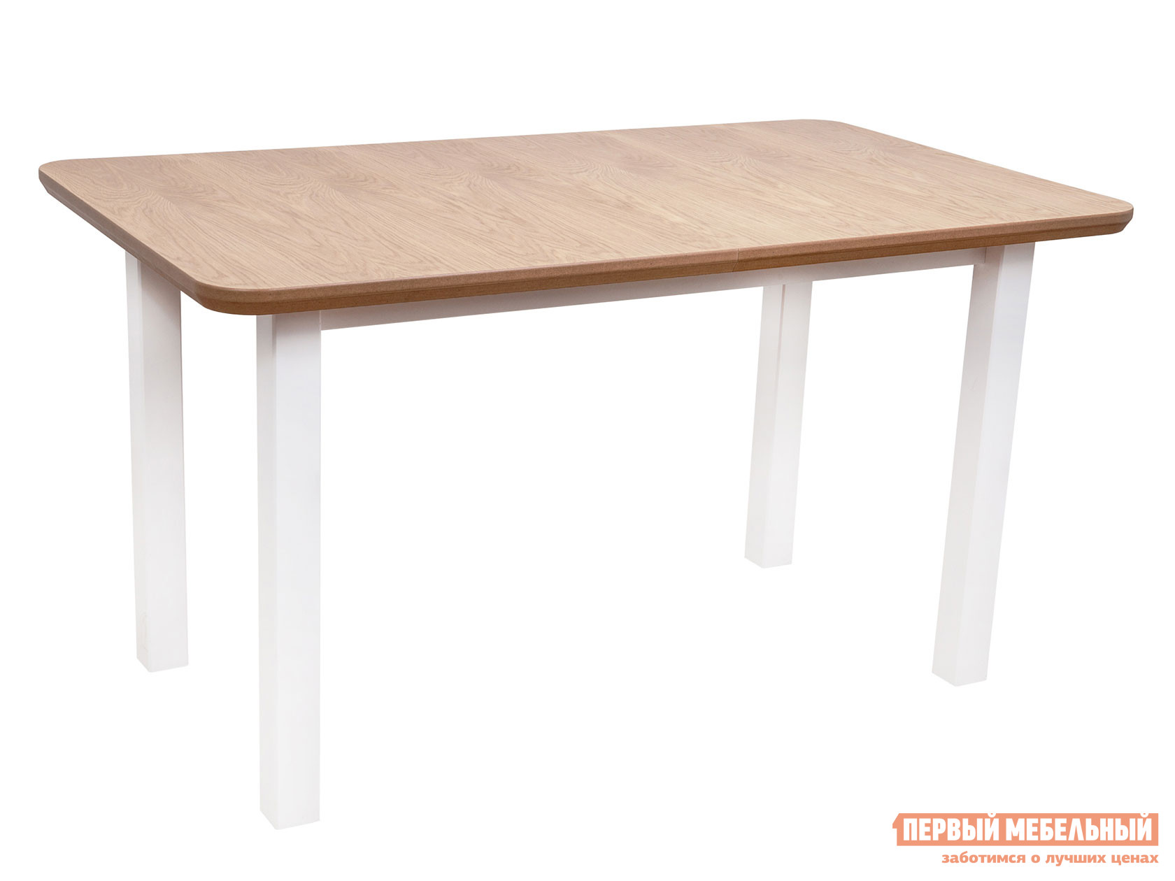 Кухонный стол  Стол WENUS 2 S, 140(180)*80*76 Дуб натуральный / Белый