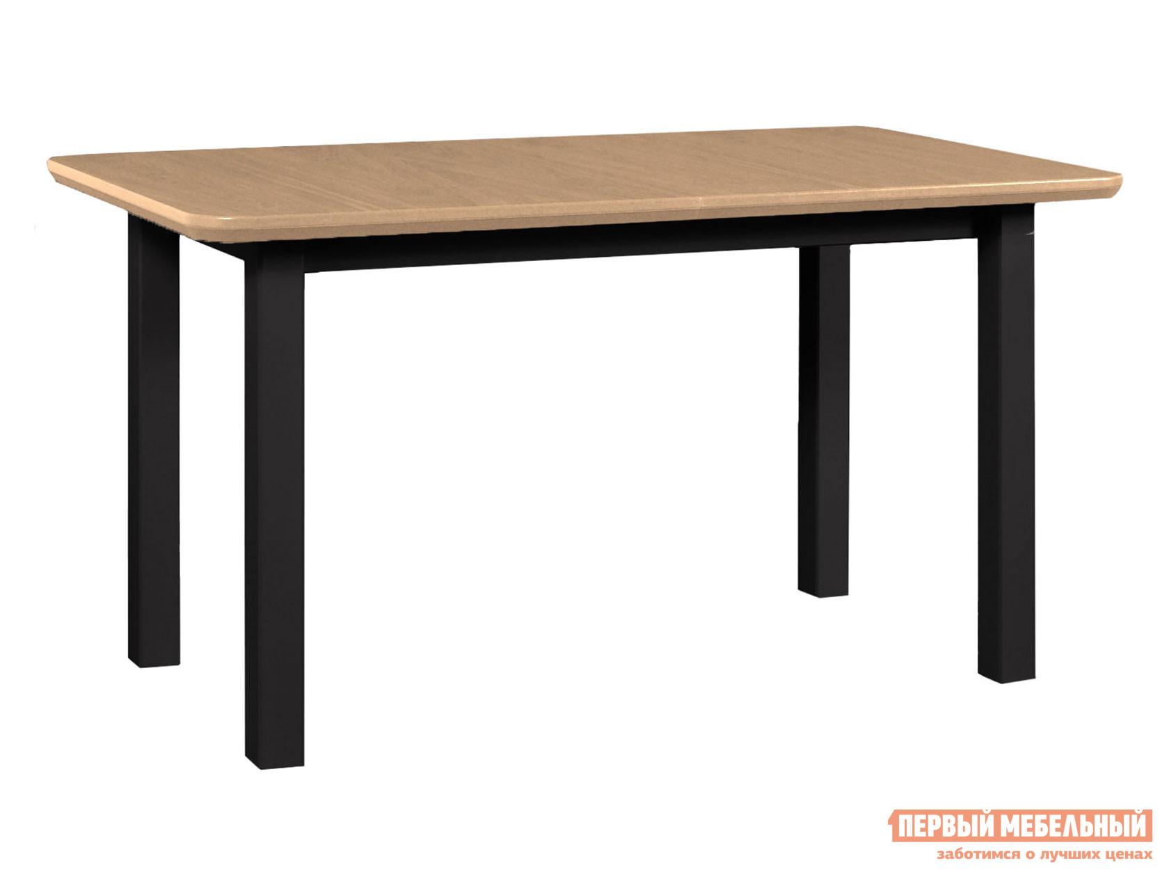 Кухонный стол  Стол WENUS 2 S, 140(180)*80*76 Черный / Дуб Натуральный