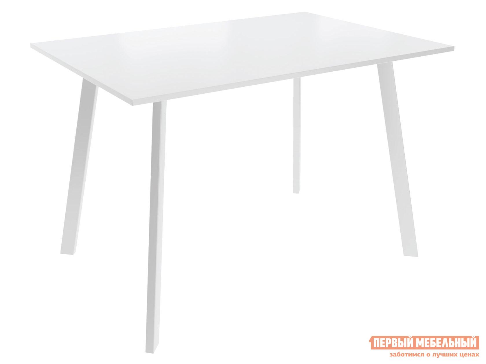 Кухонный стол  Слим 2 Белый / Белый, металл Листвиг 127336