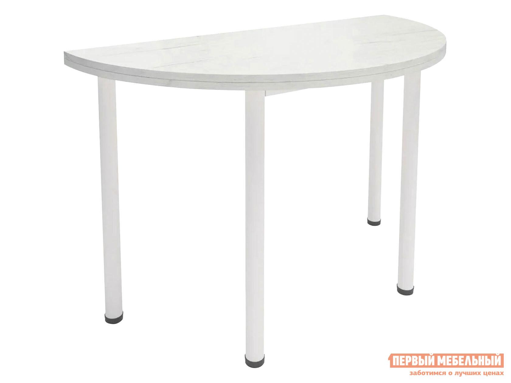 Кухонный стол  Стол-консоль Далис 1 Дуб Белый крафт / муар MillWood 123229