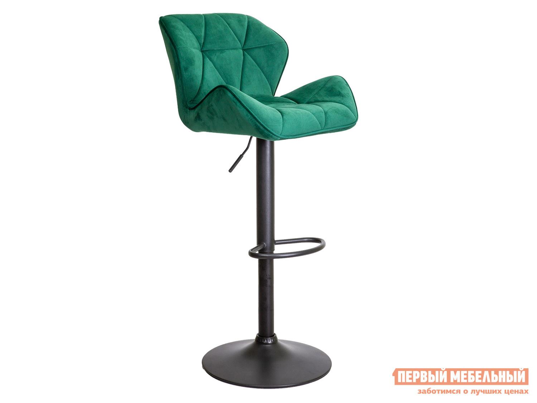 Барный стул  Стул барный BERLIN Зеленый, велюр / Черный, металл