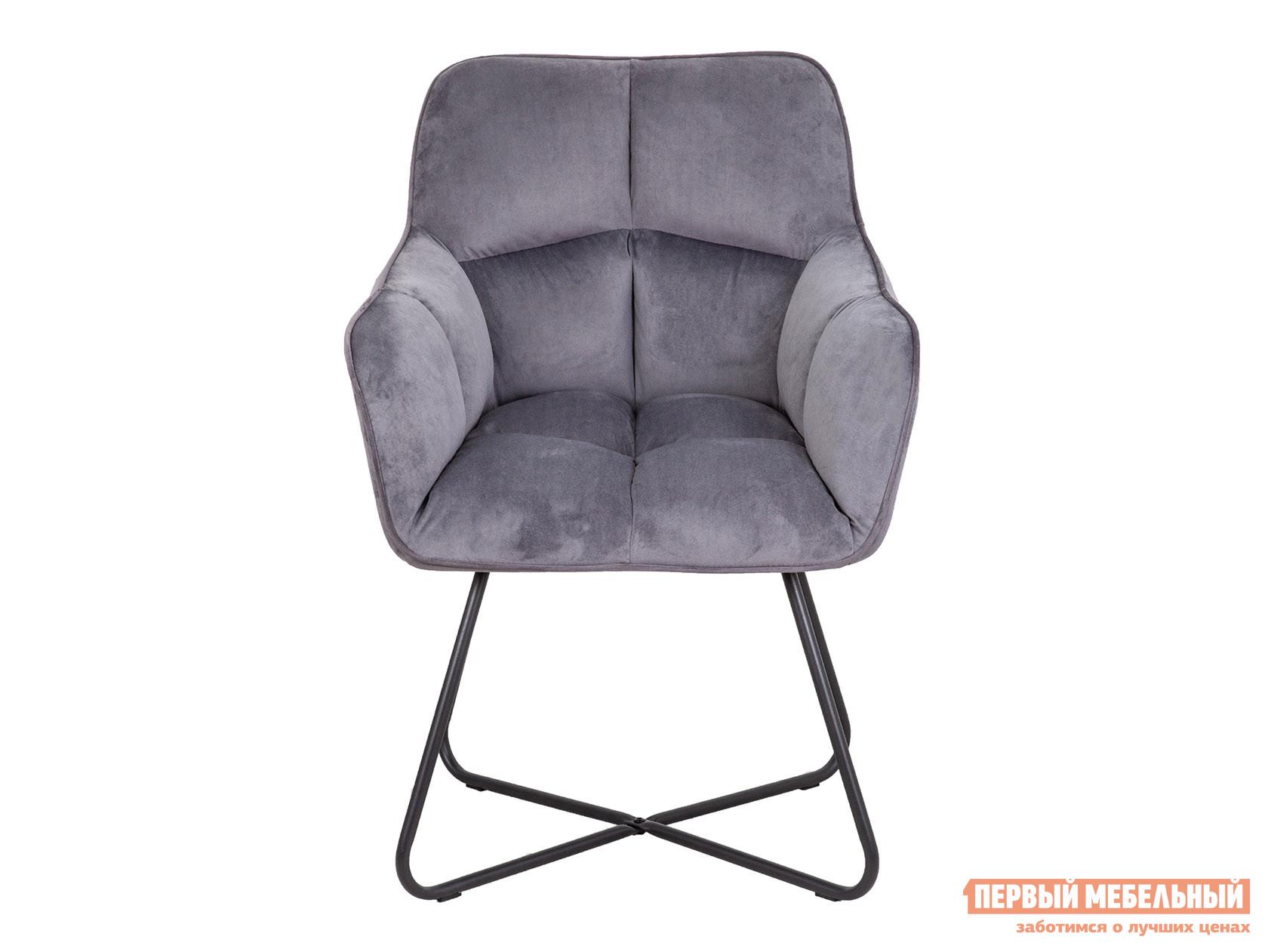 Стул  FLORIDA Темно-серый, велюр / Черный, металл Базистрейд 119480