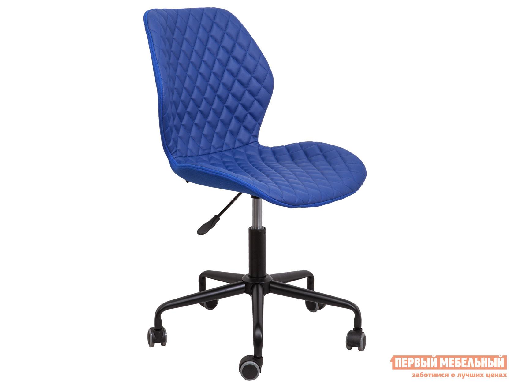 Офисное кресло  DELFIN Синий, экокожа, ткань Sedia 118008