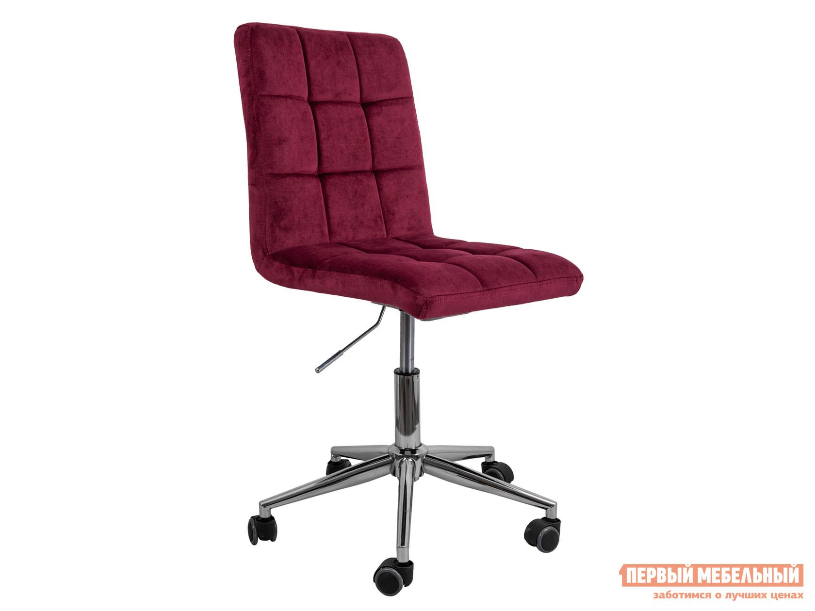 Офисное кресло  Стул FIJI, поворотный Винный, велюр / Хром Sedia 124859
