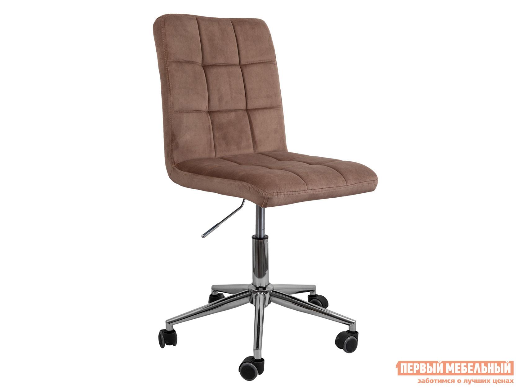 Офисное кресло  Стул FIJI, поворотный Капучино, велюр / Хром Sedia 124843