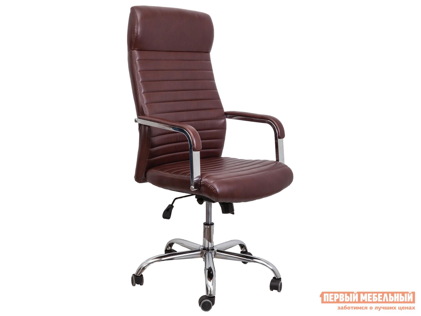 Кресло руководителя  Кресло поворотное PILOT A Коричневый бриллиант, экокожа