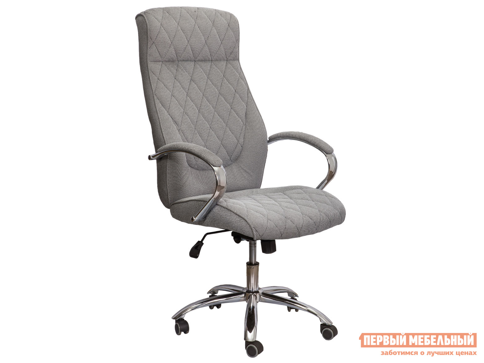 Кресло руководителя  Star Серый, ткань Базистрейд 118073