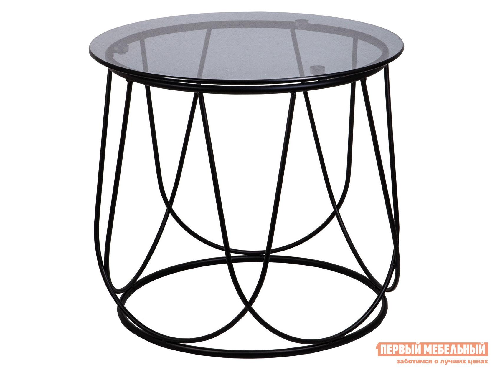 Журнальный столик  Стол BUBBLE Тонированное стекло / Черный, 450 х 500 мм Базистрейд 123068