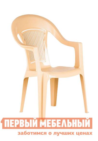 Пластиковый стул ЭЛП Кресло «Венеция» БежевыйПластиковые стулья<br>Габаритные размеры ВхШхГ 910x550x410 мм. Пластиковый стул тоже может быть элегантным, и кресло «Венеция» тому доказательство.  Покатая спинка, аккуратные подлокотники и удобное сиденье делают модель изящной и гармоничной деталью для обустройства зоны отдыха на веранде, в саду вашего загородного участка или на лоджии квартиры.  Глубокое сиденье и перфорированная спинка, пропускающая воздух, обеспечат комфортный и приятный отдых в таком кресле. Стул выполняется из пластика, легкого, но прочного материала, устойчивого к погодным влияниям и перепадам температур.  Модель весит всего 2,3 кг, вы с легкостью сможете вынести кресло на улицу и, устроившись под любимой яблоней, насладиться свежим воздухом и захватывающей книгой.  Размеры стула составляют 910 х 550 х 410 мм.  Высота от пола до сиденья — 445 мм, ширина и глубина сиденья — 440 мм.  Кресло выдерживает до 120 кг.<br><br>Цвет: Бежевый<br>Высота мм: 910<br>Ширина мм: 550<br>Глубина мм: 410<br>Кол-во упаковок: 1<br>Форма поставки: В собранном виде<br>Срок гарантии: 1 год<br>С подлокотниками: Да