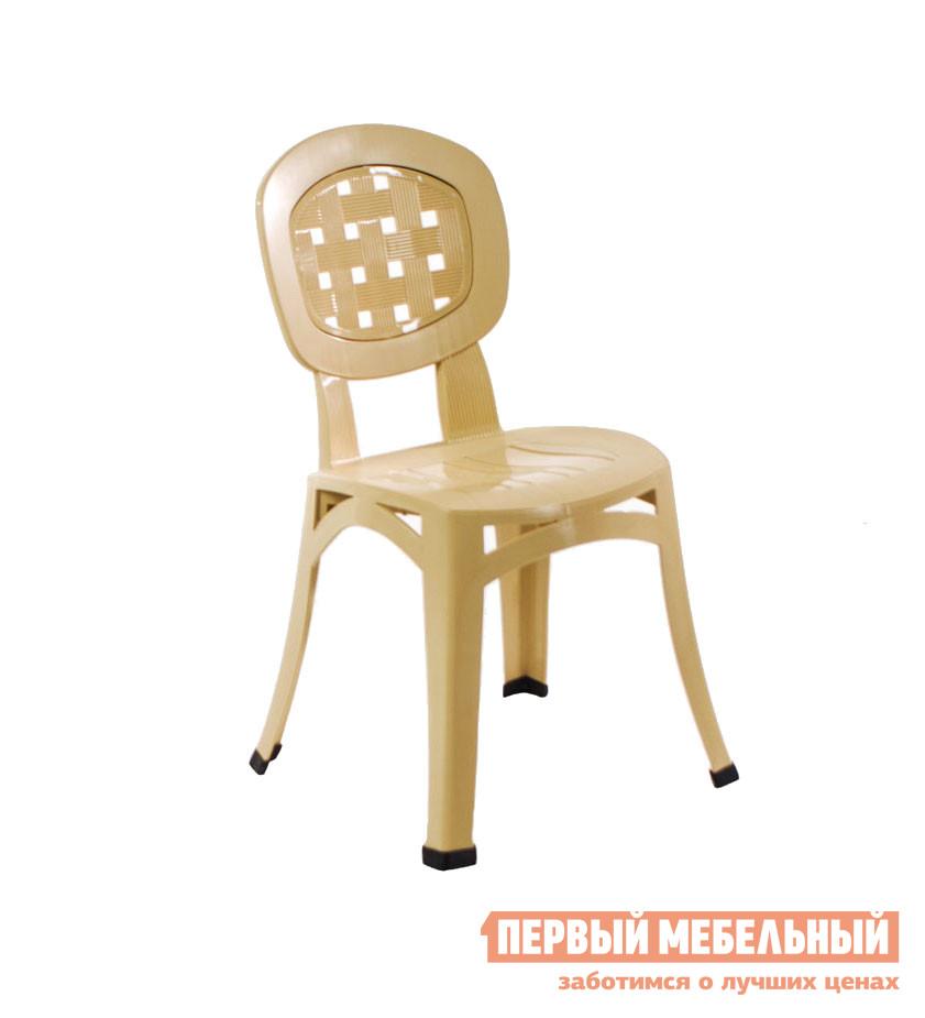 Пластиковый стул ЭЛП Стул «Элегант» БежевыйПластиковые стулья<br>Габаритные размеры ВхШхГ 855x405x405 мм. Этот неординарный пластиковый Стул «Элегант» завоевал признание среди любителей летнего досуга за городом.  Модель лаконичная и в тоже время изящная.  Овальная спинка дополнена перфорированной вставкой, которая свободно пропускает воздух и приятно освежает спину сидящего.  Идеален для обстановки в летних кафе, в саду, в беседке или на кухне дачного домика. Выполненный из пластика, стул весит всего 2,8 кг, его легко вынести на улицу или переместить на веранду.  Пластик — материал прочный и надежный, он легко чистится, устойчив к влажности и перепадам температур.  Размеры стула 855 х 405 х 405 мм, максимальная нагрузка — 120 кг.  Несколько таких стульев могут штабелироваться друг на друга и занимать минимум места.<br><br>Цвет: Бежевый<br>Высота мм: 855<br>Ширина мм: 405<br>Глубина мм: 405<br>Кол-во упаковок: 1<br>Форма поставки: В собранном виде<br>Срок гарантии: 1 год<br>Без подлокотников: Да