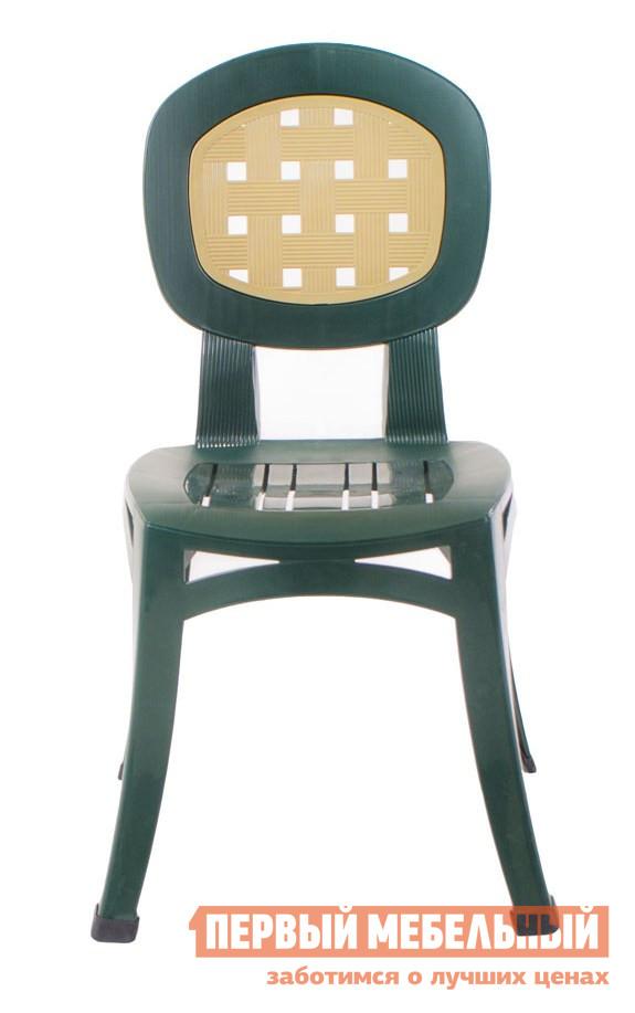 Пластиковый стул ЭЛП Стул «Элегант» Темно-зеленый / Бежевая спинка