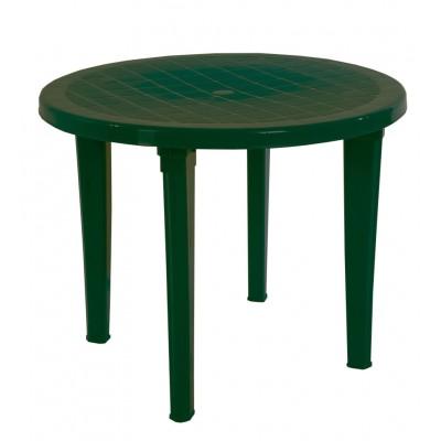 Пластиковый стол ЭЛП Стол круглый Темно-зеленый