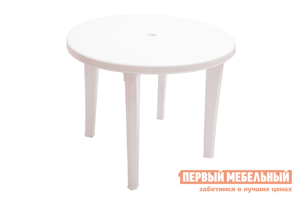 Пластиковый стол ЭЛП Стол круглый Белый