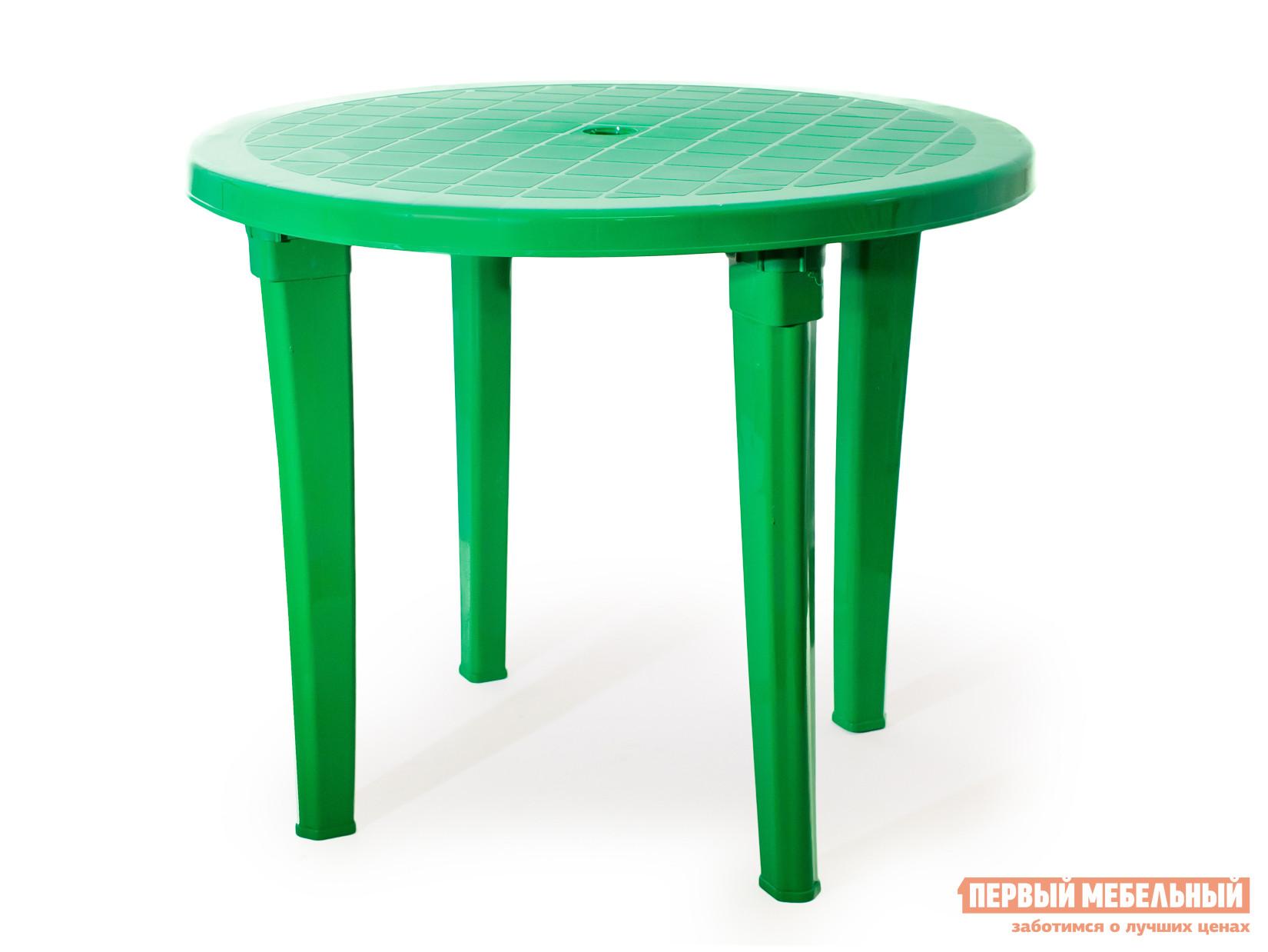 Пластиковый стол ЭЛП Стол круглый Зеленый