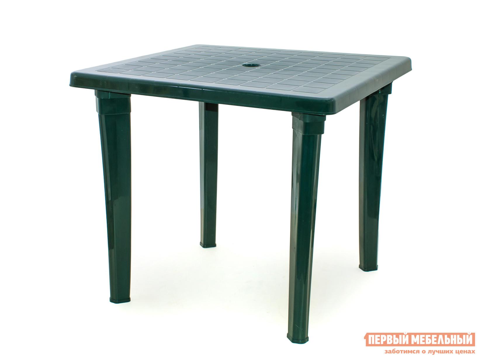 Пластиковый стол ЭЛП Стол квадратный Темно-зеленый