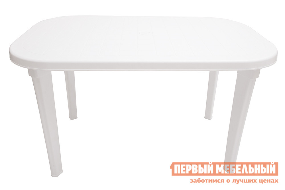 Пластиковый стол ЭЛП Стол овальный Белый