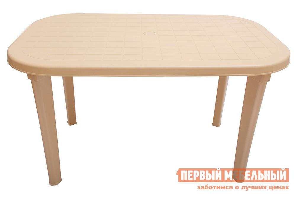 Пластиковый стол ЭЛП Стол овальный Бежевый