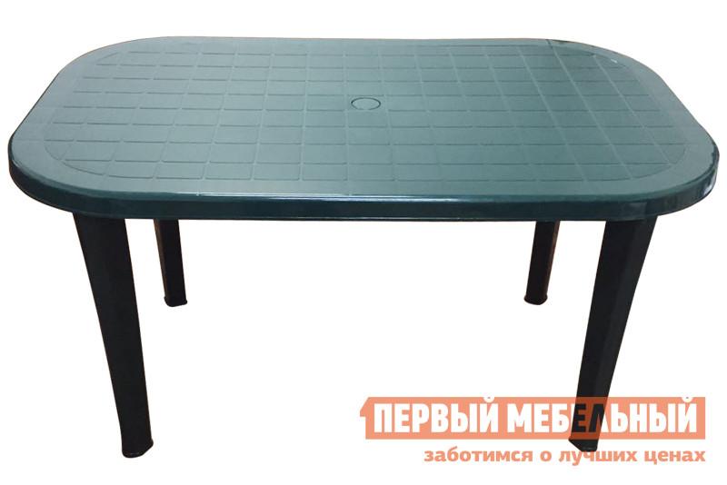 Пластиковый стол ЭЛП Стол овальный Темно-зеленый