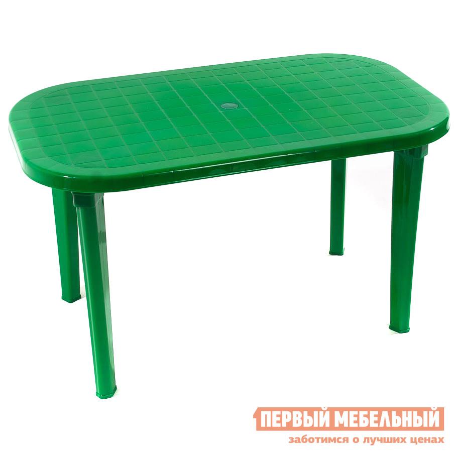 Пластиковый стол ЭЛП Стол овальный ЗеленыйПластиковые столы<br>Габаритные размеры ВхШхГ 740x1380x800 мм. Пластиковый Стол овальный для семейных посиделок на даче, на веранде или для обустройства уютного кафе для вечерних встреч с друзьями.  Столешница имеет негладкую поверхность, что предотвратит случайное падение посуды и предметов.  За столом будет приятно собраться с близкими и обсудить последние события, поделиться новостями, сыграть в любимую в семье настольную игру. Стол имеет размеры 740 х 1380 х 800 мм и с комфортом уместит шесть человек.  Его легкий вес, всего 7,9 кг, позволяет быстро переместить стол в нужное место.  Изделие выполняется из пластика — прочного и неприхотливого материала, устойчивого к температурным колебаниям и влажности.  Стол поставляется в разобранном виде.  Чтобы его собрать, нужно всего лишь вкрутить ножки в столешницу.  Это занимает считанные минуты.<br><br>Цвет: Зеленый<br>Высота мм: 740<br>Ширина мм: 1380<br>Глубина мм: 800<br>Кол-во упаковок: 1<br>Форма поставки: В разобранном виде<br>Срок гарантии: 1 год<br>Форма: Овальные<br>Форма: Прямоугольные<br>Размер: Большие