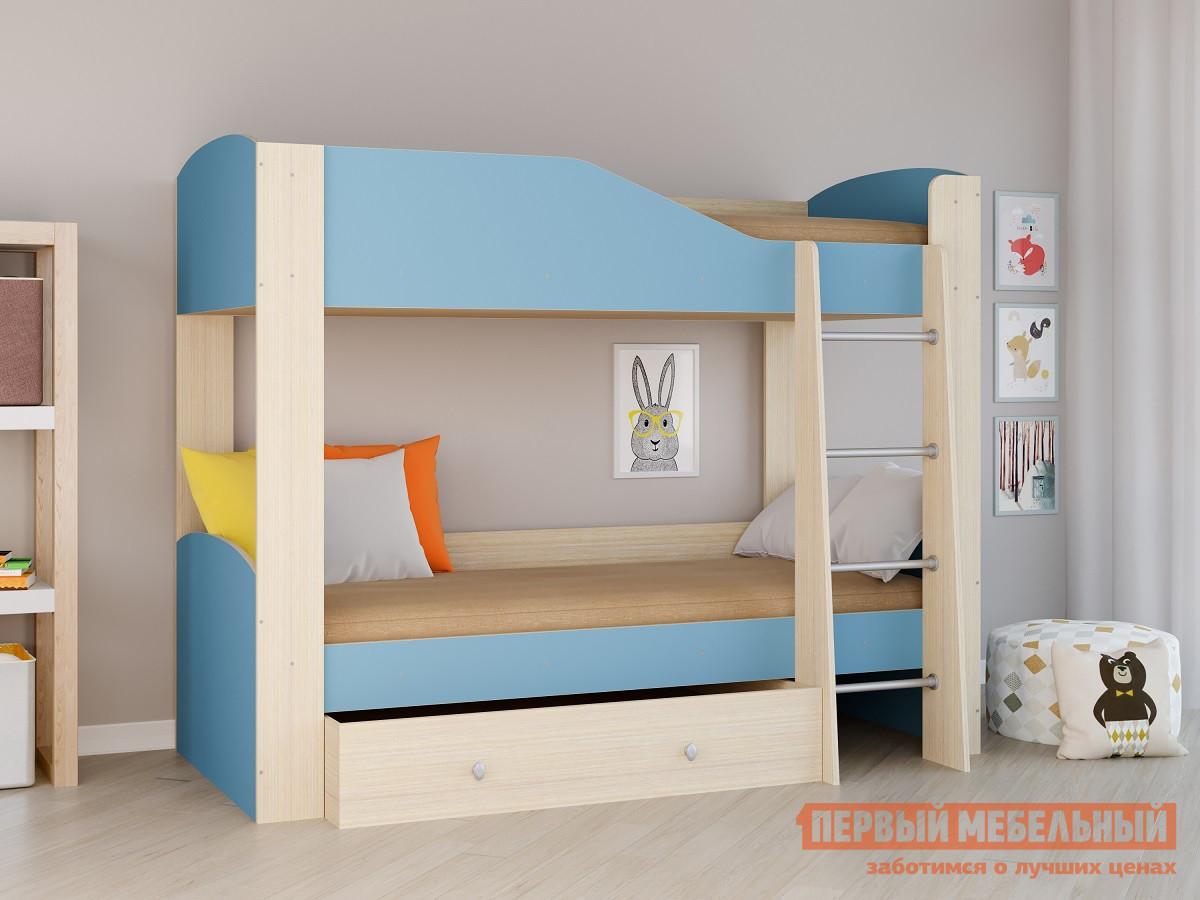 купить Кровать РВ Мебель Двухъярусная кровать Астра-2 Дуб молочный по цене 12250 рублей