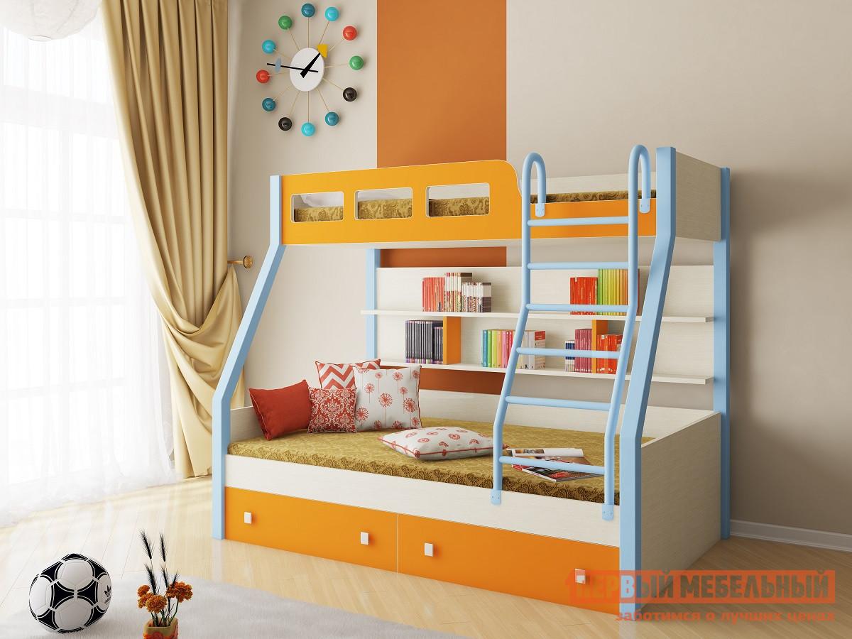 Двухъярусная кровать РВ Мебель Рио Дуб молочный рв мебель м 85 дуб шамони салатовый