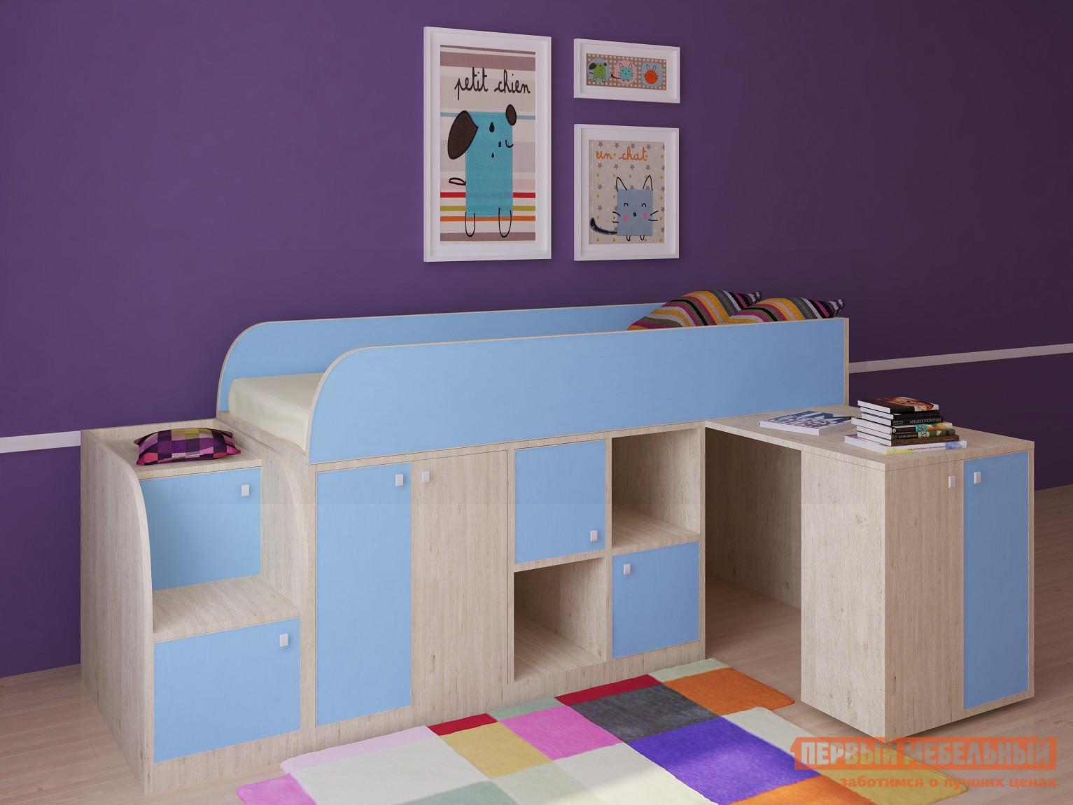 купить Кровать-чердак для детей от 3 лет РВ Мебель Астра мини по цене 15500 рублей